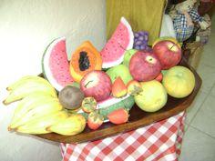 frutas em tecido de  algodão,pintadas a mão.
