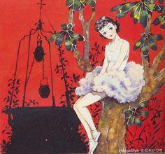 Ballerina Illustration, Art Deco Illustration, Fashion Illustration Vintage, Japanese Illustration, Manga Illustration, Graphic Illustration, Retro Art, Vintage Art, Japan Design