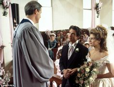 Cameo role: Writer Robert Harling played the minister who married Shelby and Jackson. Shel...