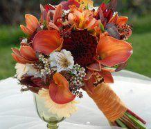 Podzimní svatební kytice