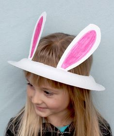 Craft from Paper Plates Easter bunny ears out of paper plates. This site has other cool paper plate hat ideas too! Made these for Finley's preschool Easter party and they were dorable!Easter Seals Easter Seals can refer to: Hat Crafts, Bunny Crafts, Paper Crafts For Kids, Preschool Easter Crafts, Rabbit Crafts, Easter Activities For Kids, Decor Crafts, Easter Bunny Ears, Bunny Hat