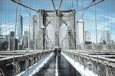 BROOKLYN BRIDGE–NEW YORK, NY, U.S.  - 25 Stunning Photos of Landmarks Covered in Snow - December 29, 2017
