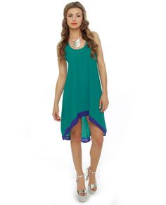 What do you think? Caribbean Scene High Low Teal Dress from lulus.com