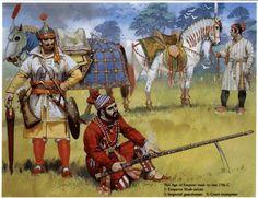 Angus McBride - Emperador indo-persa, siglo XVII.