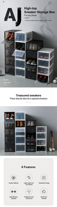 Transparent Drawer Shoes Box – Ohh My Dealz Organizing Tools, Home Organization Hacks, Intelligent Technology, Boxing News, Storage Drawers, Shoe Box, Life Hacks, Gadgets, Tee Shirts