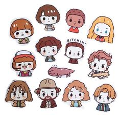 stranger things 3 t Source by Stranger Things Characters, Stranger Things Season 3, Stranger Things Funny, Eleven Stranger Things, Stranger Things Netflix, Wallpaper Notebook, Aesthetic Stickers, Cute Stickers, Cute Drawings