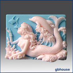 handmade soap - Mermaid Selena and Dolphin
