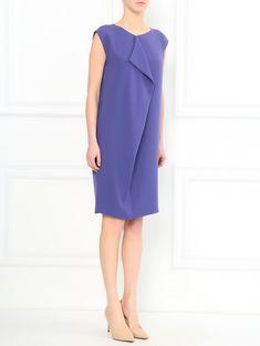 Платье-мини свободного кроя с драпировкой - Общий вид