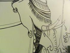 """""""Passenger Elephant"""", murales"""