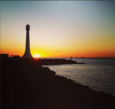 What a beautiful sunset captured  #sunset #melbourne #lighthouse Pic by cbertolini
