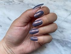 """Lucy💅🏽 on Instagram: """"Currently wearing @cirquecolors """"Velvetine"""" on their website it states that """"Velvetine"""" is a slate blue nail polish with strong copper…"""" Blue Nail Polish, Blue Nails, Slate, Copper, Strong, Gemstones, Website, Instagram, Chalk Board"""