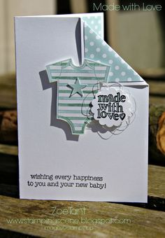 Stampin Up UK Demonstrator Zoe Tant blog shop online http://www.zoetant.stampinup.net: Stampin' Up! Grand Vacation Blog Hop - Baby Love // made with love