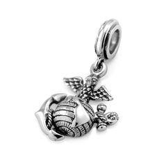 925 Sterling Silver USMC Marine Corps Dangle Bead Charm Fit Major Brand Bracelet ** You can get additional details at the image link. (This is an affiliate link) #JewelryForSale