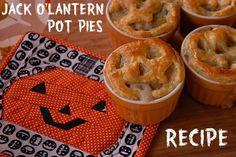 jack o'lantern pot pies