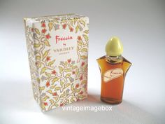 YARDLEY Freesia vintage mini scent, miniature perfume bottle, boxed, by VintageImageBox