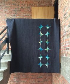 Just lovely. Great negative space and colors. Echoes Quilt | She Can Quilt