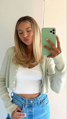 Teen Fashion Outfits, Mode Outfits, Trendy Fashion, Fashion 2020, Cute Simple Outfits, Pretty Outfits, Stylish Outfits, Blonde Hair Looks, Feminine Style