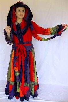 Fruity rainbow sweater Upcycled Elf Coat XXL FREE by Fairytea