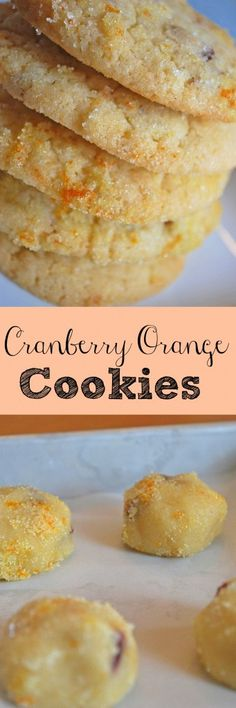 Cranberry Orange Cookies - I make these every Christmas! They are so delicious! Cranberry Orange Cookies - I make these every Christmas! They are so delicious! Cookie Desserts, Just Desserts, Cookie Recipes, Delicious Desserts, Dessert Recipes, Tea Cakes, Holiday Baking, Christmas Baking, Christmas Cookies