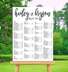 wedding seating chart board template