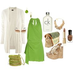 green makes me feel fresh ; Ck One, Polished Look, Stylists, How To Make, How To Wear, Fresh, My Style, Casual, Polyvore