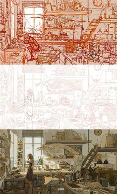 Perspective Drawing Lessons, Perspective Art, Landscape Illustration, Illustration Art, Artist Problems, Scenery Background, Beautiful Fantasy Art, Learn Art, Digital Art Tutorial