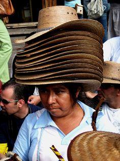 Sombrero seller, Mexico