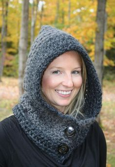 Crochet Hoods Looking for your next project? You're going to love Cozy Hooded Cowl Pattern by designer Sugar Threadz. Crochet Hooded Cowl, Hooded Scarf, Crochet Hat For Women, Love Crochet, Crochet Scarves, Crochet Hats, Crochet Clothes, Crochet Stitches Patterns, Cowl Patterns