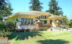 Yellow and Gold House Paint Colors - Cream and Olive Prairie Style House - Paint Color Ideas for Your House