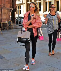 Alex Gerrard displays her enviable figure in leather-look leggings and vest top as she heads to the gym | Mail Online