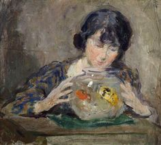 charles hodge mackie(1862–1920), the goldfish bowl. oil on board, 22.9 x 26.7 cm. perth & kinross council, uk