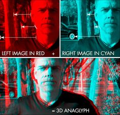 how to create a classic anaglyphic stereoscopic 3D image in Photoshop