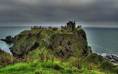 Dunnottar Castle, east coast of Scotland