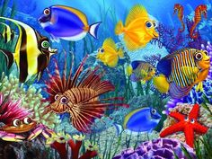 Wide-eyed Fishies 400 Piece Family Jigsaw Puzzle Cobble Hill Puzzle Company http://www.amazon.com/dp/B0079OKMAS/ref=cm_sw_r_pi_dp_2tn5ub1YB8TE4