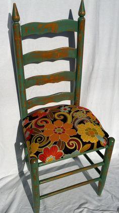 Green Shabby kitchen chair