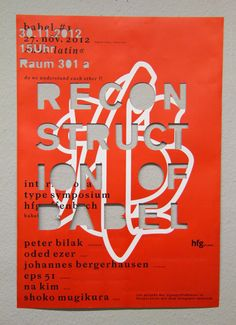 Babel is the international type symposium organized by HFG Offenbach in Germany.