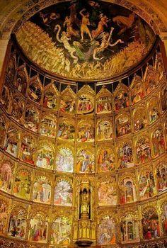 Catedral Vieja de Salamanca. Este retablo es impresionante.