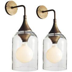 1stdibs   Italian Bell Glass Sconce
