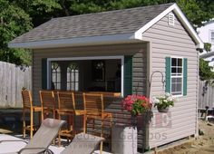 Shed Plans Backyard Bar Shed Ideas. Would be awesome for outdoor parties! Now You Can Build ANY Shed In A Weekend Even If You've Zero Woodworking Experience! Backyard Bar, Backyard Sheds, Outdoor Sheds, Backyard Landscaping, Patio Bar, Outdoor Bars, Patio Decks, Outdoor Spaces, Backyard Office