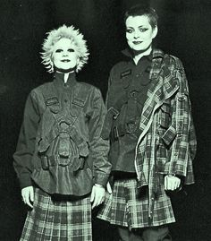 DEBBIE JUVENILE & TRACIE O'KEEFE - SEDITIONARIES shop assistants - wearing clothing designed by Vivienne Westwood & Malcolm McLaren, circa 1...