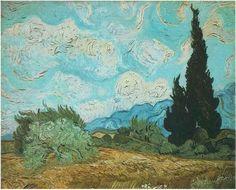 Vincent van Gogh Painting, Oil on Canvas Saint-Rémy: September, 1889 Tate Gallery London, United Kingdom, Europe