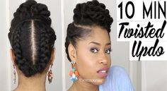 A 10 Minute Twisted Updo Perfect For Any Occasion  Read the article here - http://www.blackhairinformation.com/general-articles/hairstyles-general-articles/a-10-minute-twisted-updo-perfect-for-any-occasion/