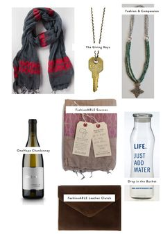Great Gifts that Give Back loving the onehope wine and giving keys