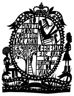 rob ryan / there is only time. Casper David, Rob Ryan, Cut Paper Illustration, Paper Installation, Laser Cut Paper, Mottos To Live By, Zen Art, Kirigami, Textiles