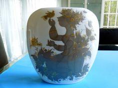 Rosenthal Pillow Vase 1001 Nights Woman Birds Flowers Wiinblad Quatre Couleurs…