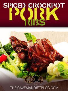Paleo Dinner Recipes: Spiced Crockpot Pork Ribs - http://cavemandietblog.com/paleo-dinner-recipes-spiced-crockpot-pork-ribs/ #HealthyDinner, #HealthyRecipes, #Paleo, #PaleoDiet, #PaleoDinner, #PaleoDinnerRecipe, #PaleoDinnerRecipes