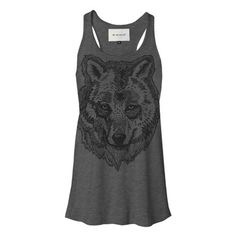 Wolf Tank Womens Charcoal by The Rise And Fall...@Andrea / FICTILIS Jacobson