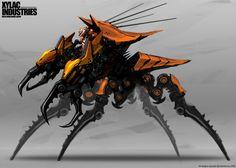 Techy on Spidey legs by ~NuMioH on deviantART Monster Concept Art, Alien Concept Art, Star Wars Concept Art, Creature Concept Art, Creature Design, Futuristic Armour, Futuristic Art, Futuristic Technology, Alien Creatures