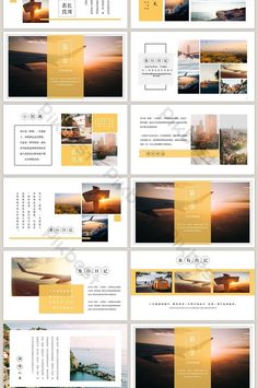 travel memory travel album travel plan ppt template is part of health-fitness - health-fitness Ppt Design, Powerpoint Design Templates, Design Brochure, Presentation Design Template, Booklet Design, Presentation Layout, Graphic Design Layouts, Book Design Layout, Slide Design
