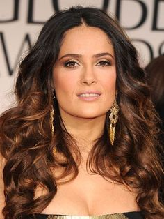 The 10 Most Gorgeous Hair-Color Ideas for Brunettes: Salma Hayek mahogany brown | allure.com